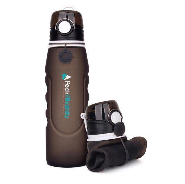 Dark Gray, BPA free water bottle.