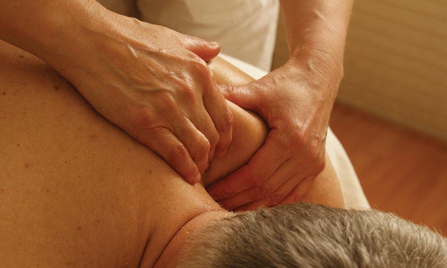 Man having a massage.