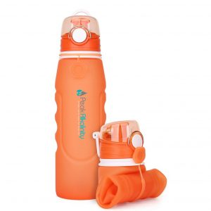 Orange BPA free water bottle.